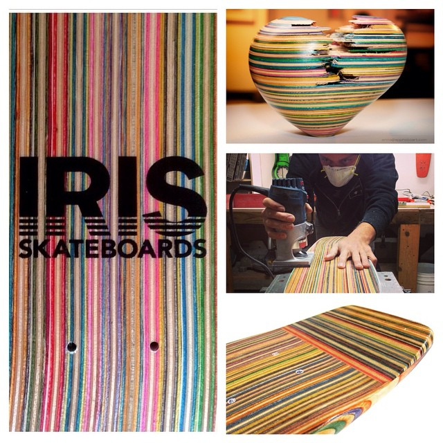 When you do what you love, you never work a day in your life. Cheers to all you makers, craftsman, and artists out there! #recycledskateboards #irisskateboards #irideirecycle