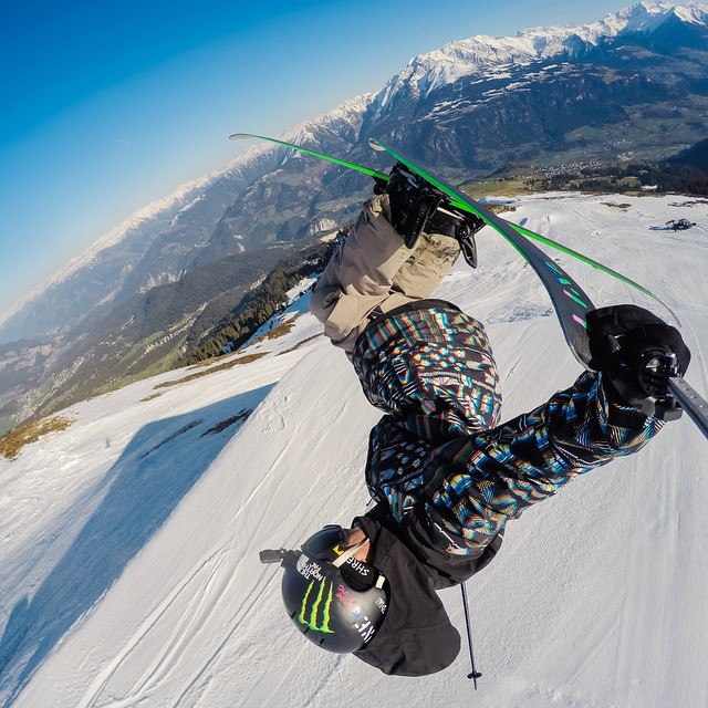 "#TBT from last week. - ""Grabbing some tail on the last day of the season. Loving it up here @SnowParkLaax."" - @Twallish #GoPro #GoProSnow"