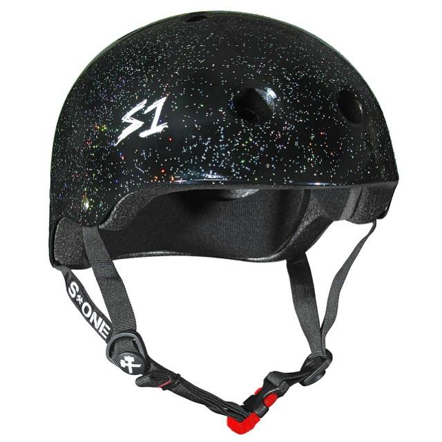 S1 Mini Lifer Helmet Color: #blackglitter In Stock now #s1helmets #skatehelmet #bestfittingcertifiedhelmetforkids