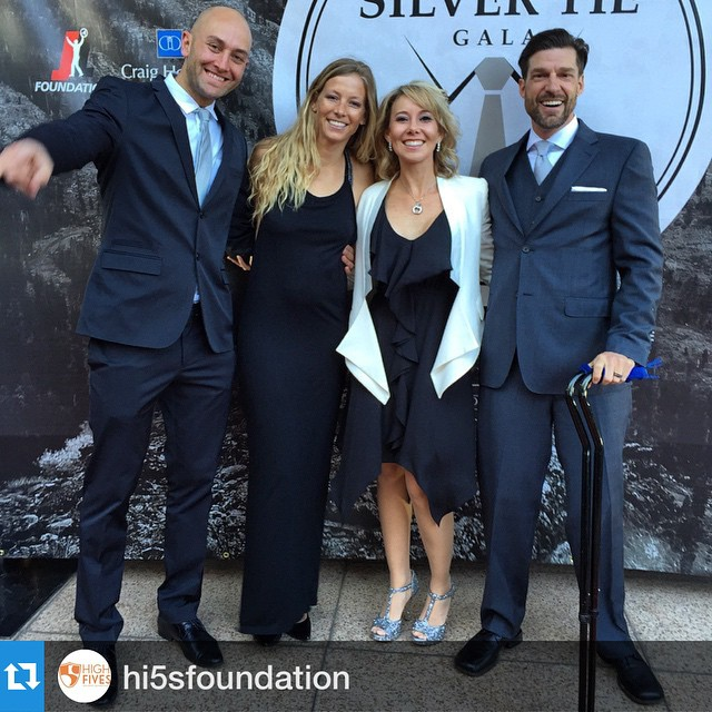 Feeling honored & blessed to STAND next to these 3 AMAZING super humans last night in the #BiggestLittleCity at the @hi5sfoundation #SilverTieGala | @shawnakorgan | @shaygiff | @galengiff |