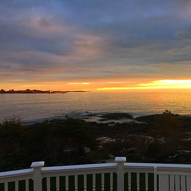 It's a huge privilege to call a place as beautiful as this home!  #sunset #maine #oceanpoint