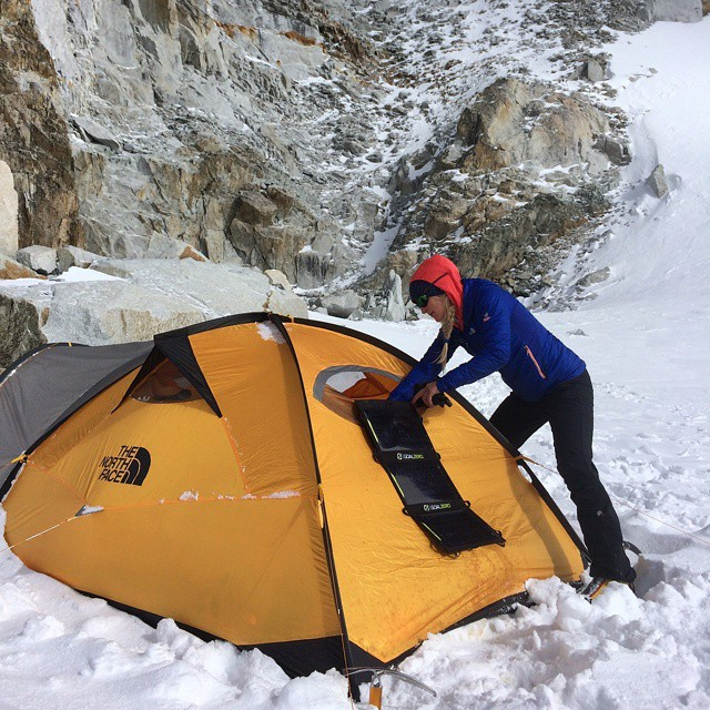 @emilyaharrington adjusting a Nomad during their expedition to Myanmar. They were attempting Hkakabo Razi, the disputed highest point in SE Asia. #MyanmarClimb #GetOutStayOut