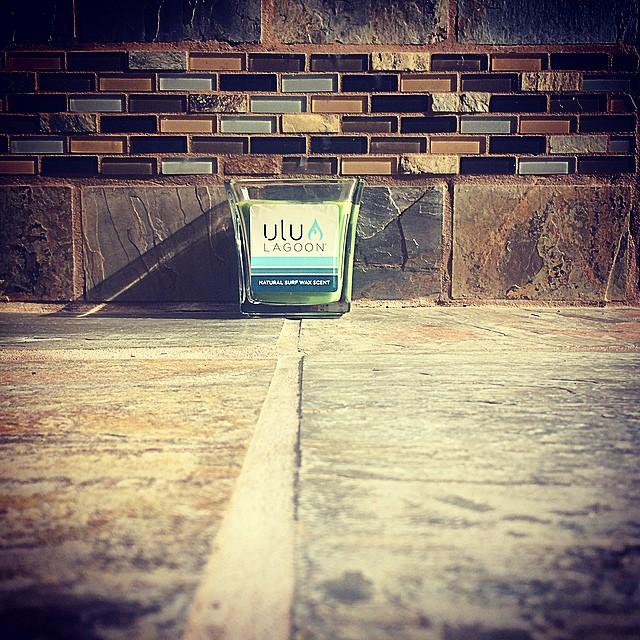 So #fresh, so #clean.  16 oz Green Surf Wax Candle in Natural Wax. #uluLAGOON #surfshops #instagood #surfwaxcandles #tropigreen