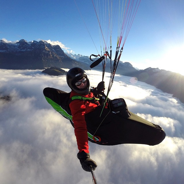 Photo of the Day! Paragliding above the fog layer in the Engelberg Valley, Switzerland. Photo by Paul van den Berg. #GoPro #paragliding #switzerland  Share your flying photos with us! Click the link in our profile to submit.