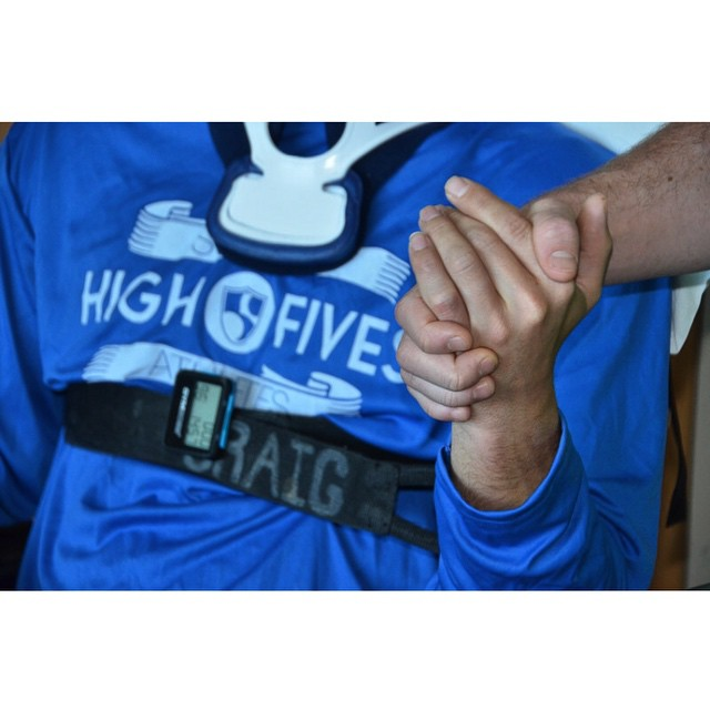 Wake up with determination. Go to bed with satisfaction. #highfivesathlete