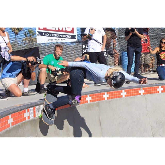 #HBD to one of the most fearless #girls out there! @sarahshreds took a bunch of slams on this back smith but she kept going until she got it at #exposure2014 . Gotta #love that #determination! Hope you have a great #birthday Sarah! #ladiesofshred