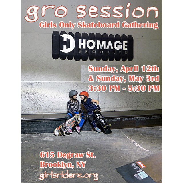 Beginner sesh this Sunday in NYC. Girls of ALL ages are welcome #ridetrue #groNYC