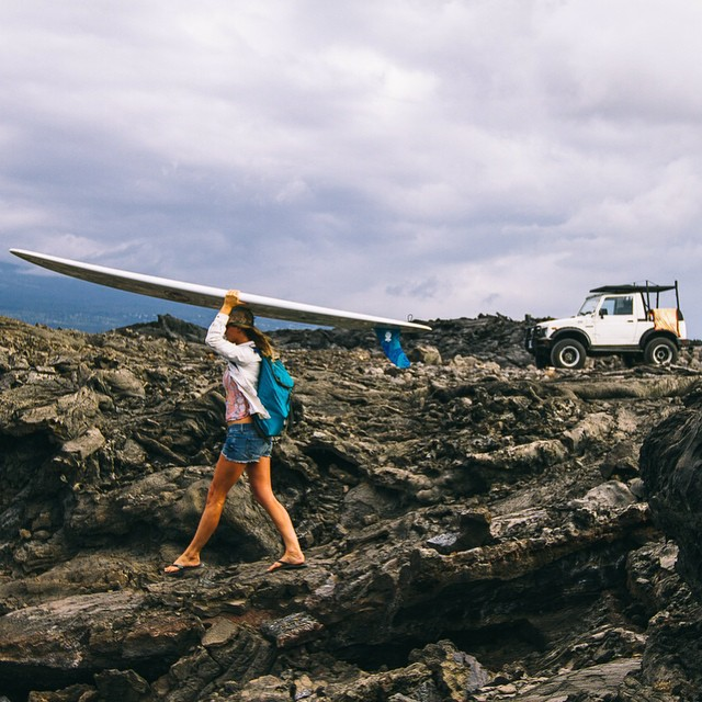Love this sick shot of @annaehrgott taking our Innertubed sandals through a lava field