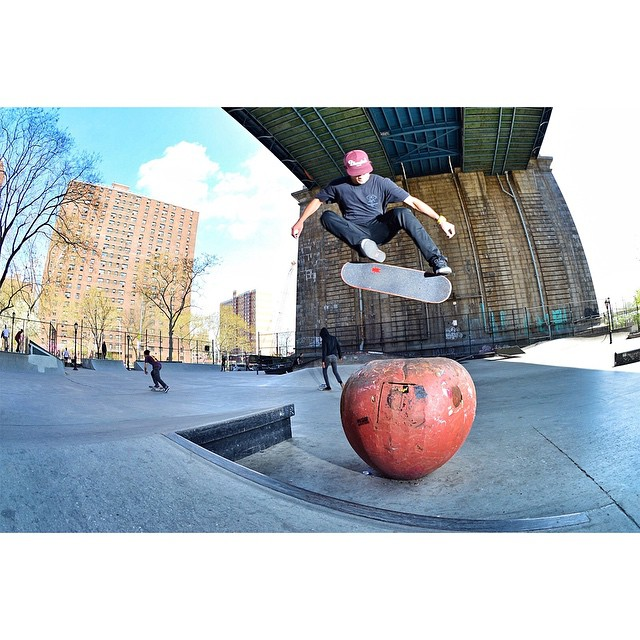 The fifth stop of #TheBoardrAm is goin' down today in NYC.  One skater will earn an invite to ❌ Games Austin! (