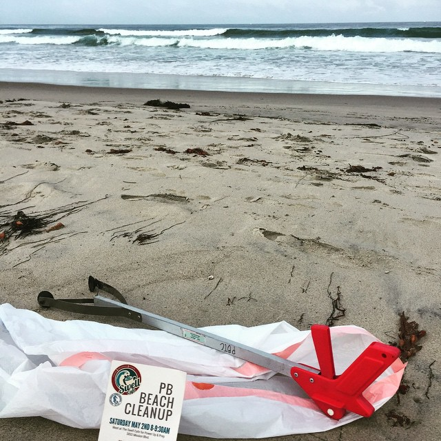 @theswellcafe PB Beach Cleanup! #luvsurf #swellcafe #swellcoffee #cleanbeach #luvyourearth