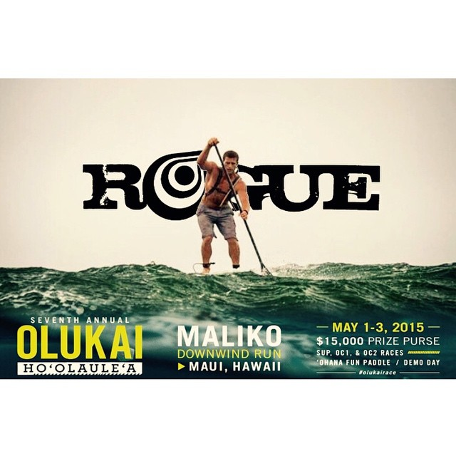 The Olukai Ho'olaule'a race has arrived! Good luck Rogue team riders @joshriccio and Rachel Bruntsch in today's battle. #roguesup #sup #maui #olukai