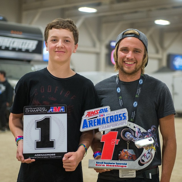@ehastings51 away with the dominator title at @arenacross here in Vegas! Hard work pays off. @braapsupply @aticlothing @jtracing @40to5 @jtracingusa @middletowncycle #arenacross #amsoilarenacross #wolftrainingacademy