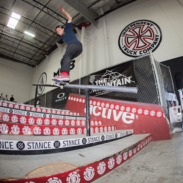@ronniekessner gets it going with a switch front feeble at the #elementmakeitcount @activerideshop today! Everyone is killing it, going to be