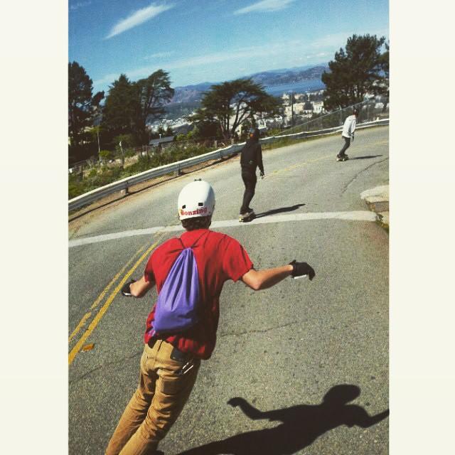 Team rider Adrian Da Kine--@adrian_da_kine warping through San Francisco with friends!  #adriandakine #bonzing #sanfrancisco @wilkinsean @ianmpowell