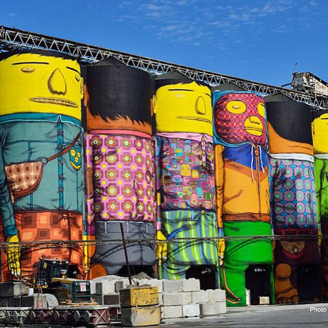 Silos don't have to just hold grain and rice. You can put a face in anything #buildabot #graffiti