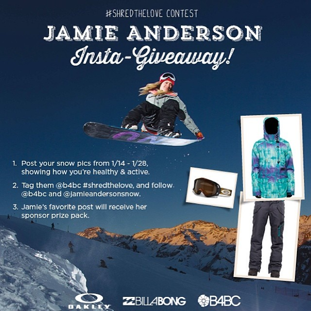 NEW YEAR, NEW TEAM RIDER! // We are so excited to welcome @jamieandersonsnow to the B4BC team!  To celebrate, we are kicking off our #shredthelove series of #teamB4BC rider giveaways by having Jamie choose her favorite healthy & active snow photo on...
