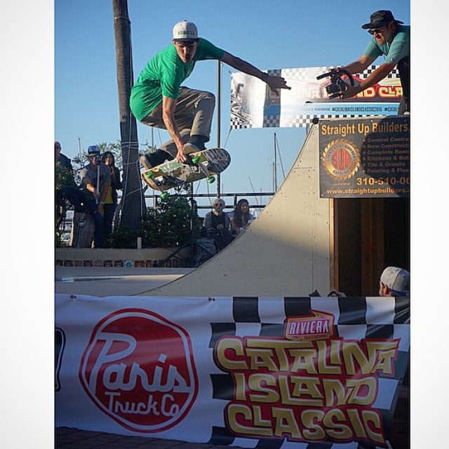 Wicked shot of @abec11 rider Flying out of the ramp at the #catalinaislandclassic ramp jam!  Photo: @mikeryannyc