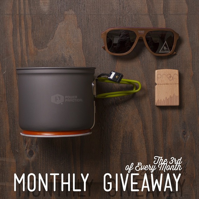 Today's the last day to enter our Monthly Instagram Giveaway! This month we teamed up with our friends at @powerpractical!  Winner will receive: The Donner Sunglasses ($120 value), a Wood Lighter ($15 value) & a #PowerPot from @powerpractical ($99...