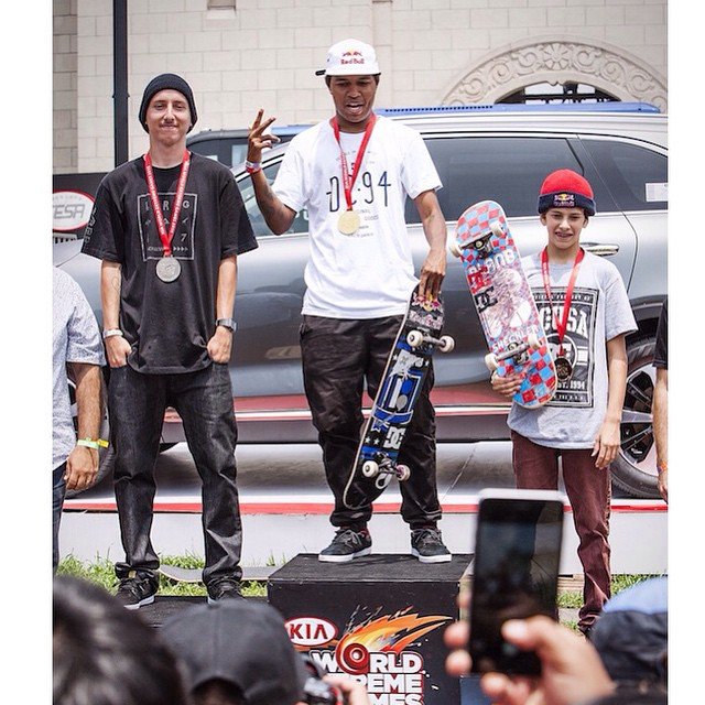 Congrats to @fgustavoo for winning gold at the @kiaworldextremegames street contest and @jaggereaton for finishing 3rd! You guys nailed it! #DCShoes #KWEG @caproductions13