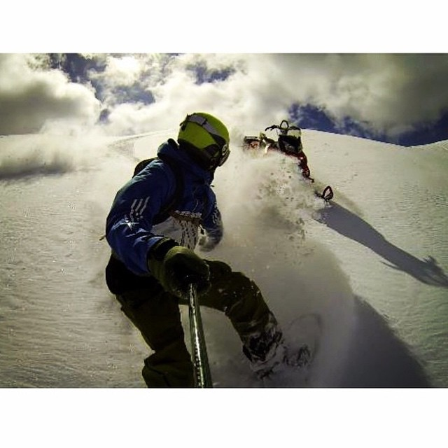 Epic shot of team rider from #Canada @goldenrider4two0❄️#FrostyHeadwear #Snowboarding #GoPro #GoProOfTheDay #EmbraceYourOpportunity