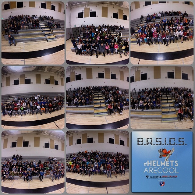 650 Kids | 8 presentations | Excelsior Middle School knows that #helmetsarecool | #icanhelp