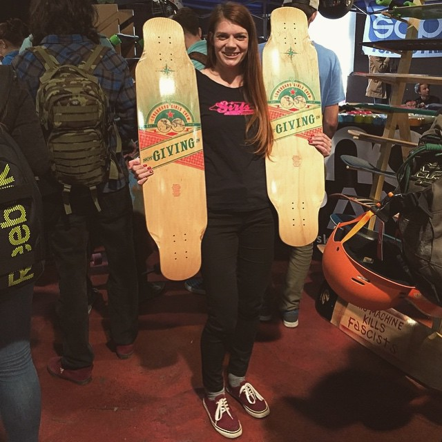 Repost from @concretewave_skateshop  LGC Czech Republic Ambassador @vallery_v with some fresh LGC Boards for @snowpanic skateshop in Prague. Go get some candy!  #longboardgirlscrew #LGCBoard #womensupportinwomen #skatelikeagirl #snowpanic...