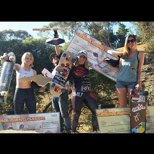 The #catalinaislandclassic went down this weekend on beautiful Catalina Island. Congrats to XS team rider Marie @spokywoky in 2nd place and to @emilylongboards in 1st, vwaddington_skates in 3rd and @fillbackside in 4th. All the ladies killed it! See...