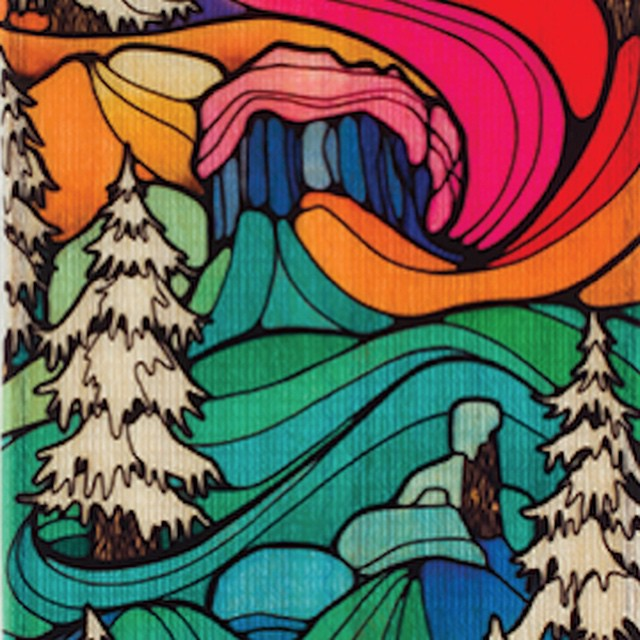Just a wee part of Asymbol artist @iunatinta's new @roxysnowboarding Radiance board graphic. If it rides like it looks, you will be in for an epic trip! #asymbolartist #iunatinta #roxyboard