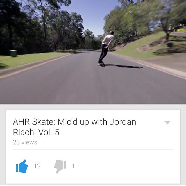second mic'd up run with our Aussie boy @jordanriachi is live on the @ahrskate YouTube channel. go check it out!
