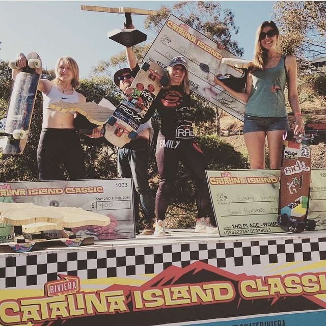 Congrats to our 3 holesom girls for killing at @catalinaislandclassic yesterday and taking the win!!!! @emilylongboards @spokywoky @vwaddington_skates