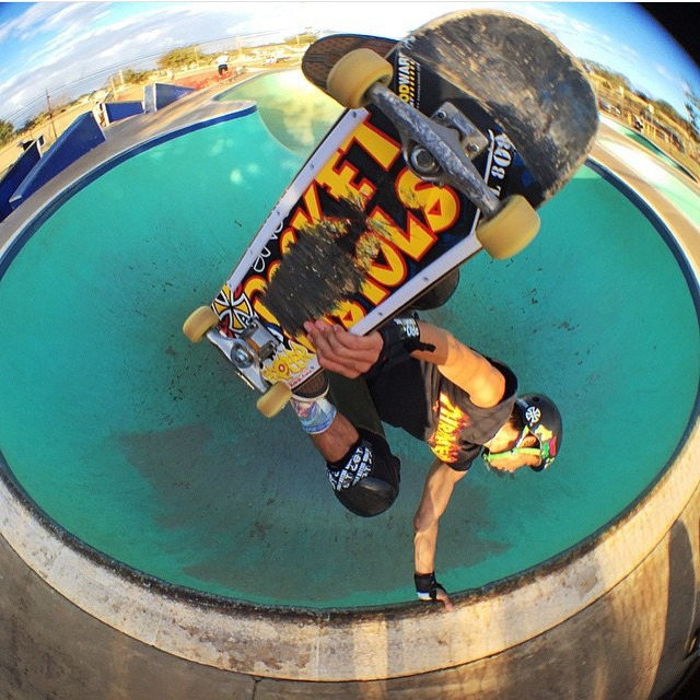 @heimana_reynolds wears the S1 Lifer Helmet . #kapoleiskatepark #kapoleibowls