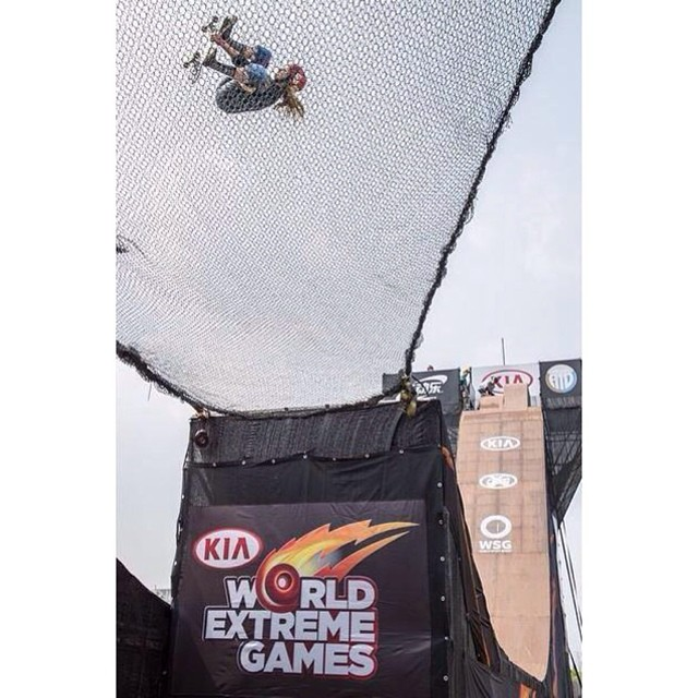 @alanasmithskate flipping out in #shanghai at the #kiaworldextremegames #kweg #ladiesofshred #backflip