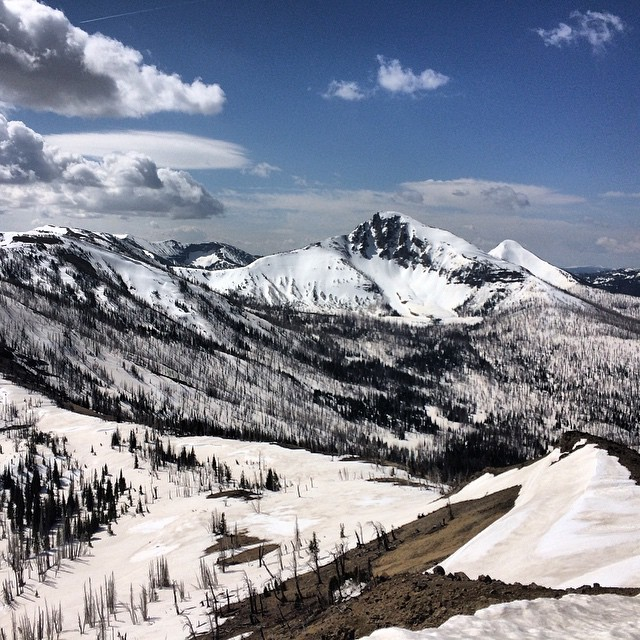 Taking our mountain crush local this week. Come support us at @lockhorncider in #Bozeman tomorrow, from 3-6 pm. // Photo: Mount Doane, Sylvan Pass, #Yellowstone National Park.  #mountaincrushmonday #mountains #sylvanpass