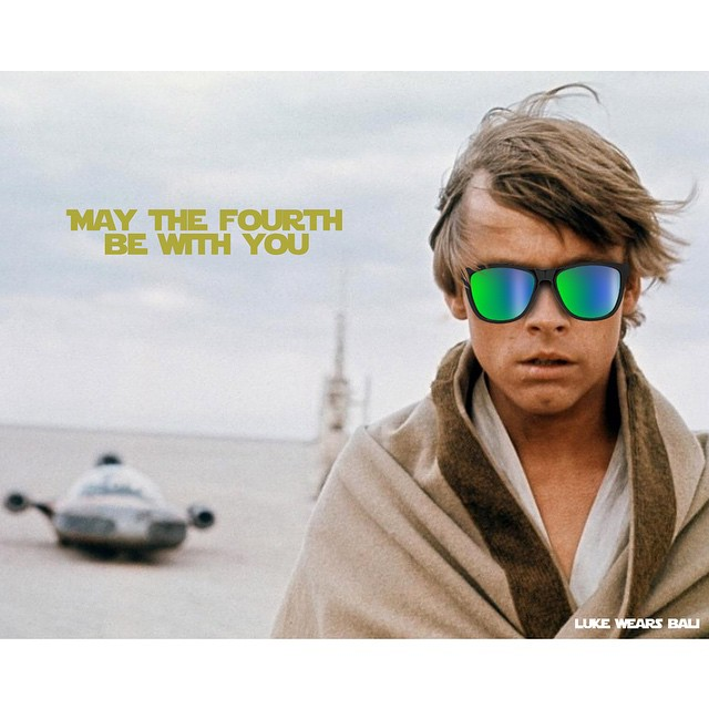 Happy #StarWarsDay! Wanna win Luke's shades?! Repost this photo and hashtag: #Kameleonz #StarWars #StarWarsDay #MayTheFourthBeWithYou #MayThe4thBeWithYou  Whoever gets the most Star Wars comments on their pic wins! May the force be with you!