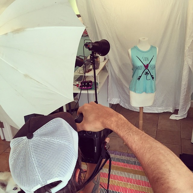 #photoshoot in the office today #newcollection #luvsurf #office