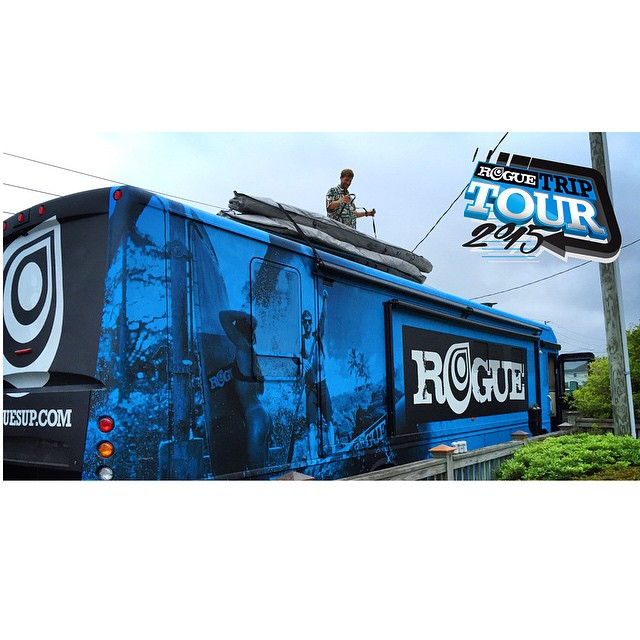 Load em up! If you want to see the #bluebeast come through your hometown during the Rogue Trip Tour, submit an inquiry to our Rogue Trip page on our website @ www.roguesup.com. See you there! #roguesup #roguetrip #2015 #sup #standuppaddle