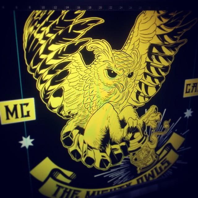 #owl #illustration  #tshirt #miumtoys  #finished