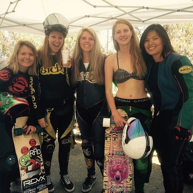 Repost from @francescarosario  Some of the ladies racing @catalinaislandclassic taking a break in between heats. Rad weekend in Avalon.  #longboardgirlscrew #girlswhoshred #skatelikeagirl #womensupportingwomen #catalinaislandclassic