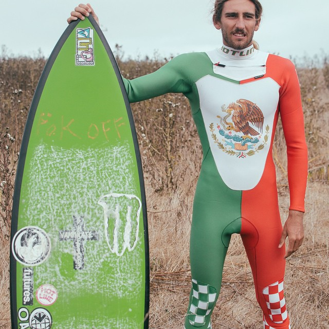 Here's @dylansouthworth in a sweet Mexican flag suit.  Happy Cinco de Mayo everyone!