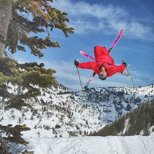 A regram of our buddy @chrisgarcin of @pit_viper living #trnteklife to the fullest! @altaskiarea #ironcross #straightskis