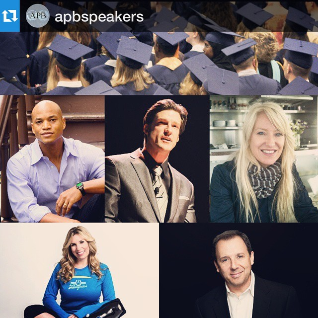 "#Repost from @apbspeakers: ""Congratulations to the #Classof2015! Check out which #APBspeakers are inspiring students at commencements across the US by visiting our blog #50ReasonsWhyAPB #graduation @iamwesmoore @grantkorgan"" 