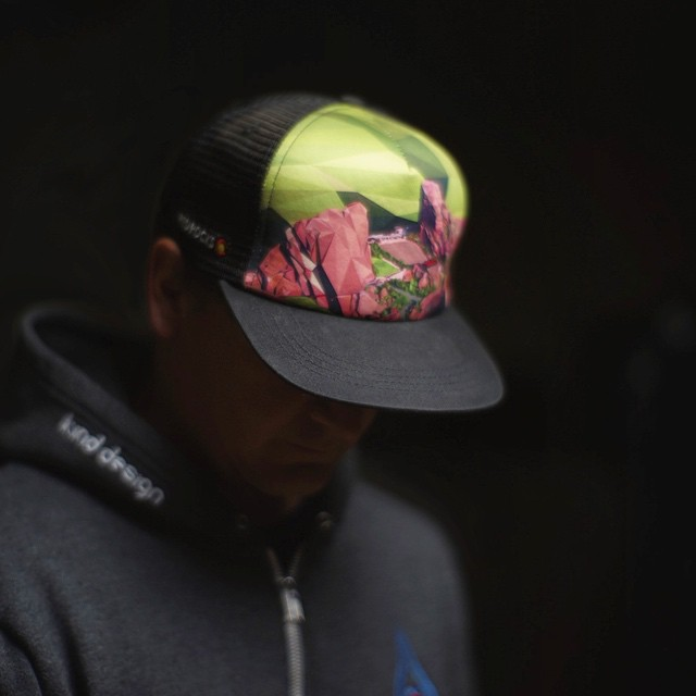 """Like & Comment to win a Red Rocks Polyrado hat... now available at www.kinddesign.co - please use """"redrocks"""" for 20% off your entire order.  This design was hand drawn using roughly 10,000 triangles. Please tag your friends too! #kinddesign #redrocks..."""