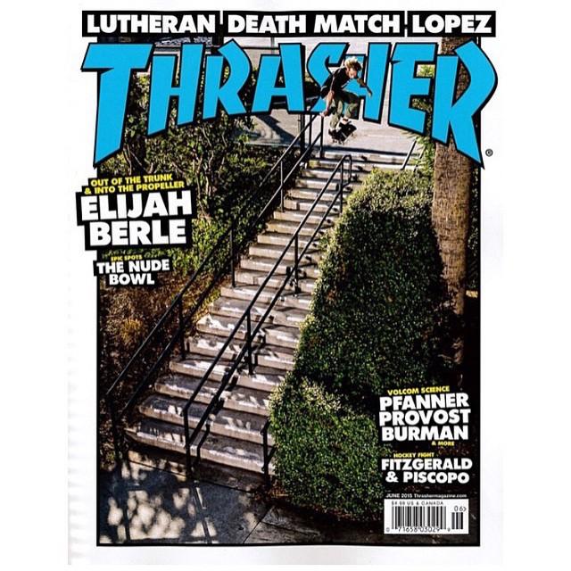 @daniellutheran será tapa de @thrashermag en junio. Su parte en #VansPropeller está tremenda. ¿Ya la tienen? La consiguen desde iTunes