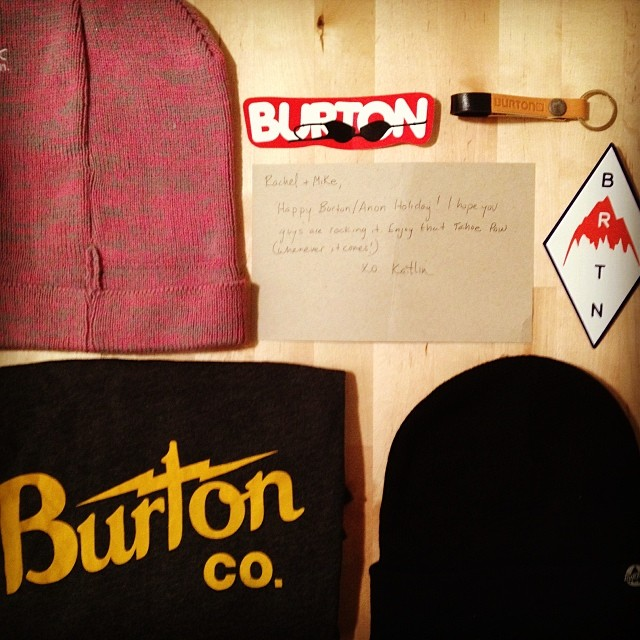 Thanks @kaitvillanova for our dope @burtonsnowboard @anon_optics #swag! Can't wait to rock it in Colorado next week! #burton #anon #snowboarding #xgames #pow