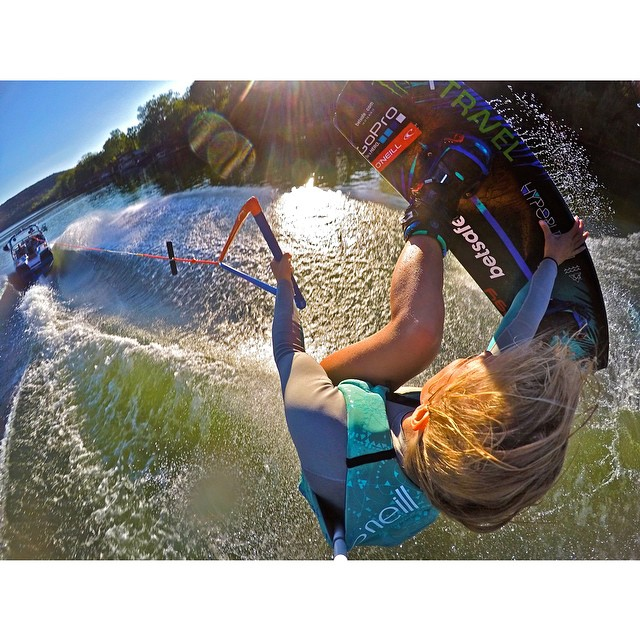 @wakecarro got creative with this angle while wakeboarding. Captured on GoPro HERO4 with Smart Remote and GoPole Reach. #gopro #gopole #gopolereach #wakeboarding