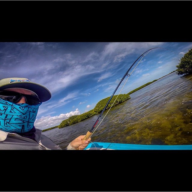 Fishin' season is here! Adventurer @mikepetti has been out catching tarpon and keeping the elements off his face by rocking our classic Tshield facemask. #avalon7 #liveactivated www.avalon7.co