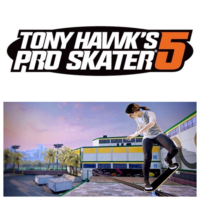 Congratulations @leticiabufoni (pictured) and @lizziearmanto for getting into the new #tonyhawksproskater video game!  It's awesome to see our #friends as characters in games we grew up playing!