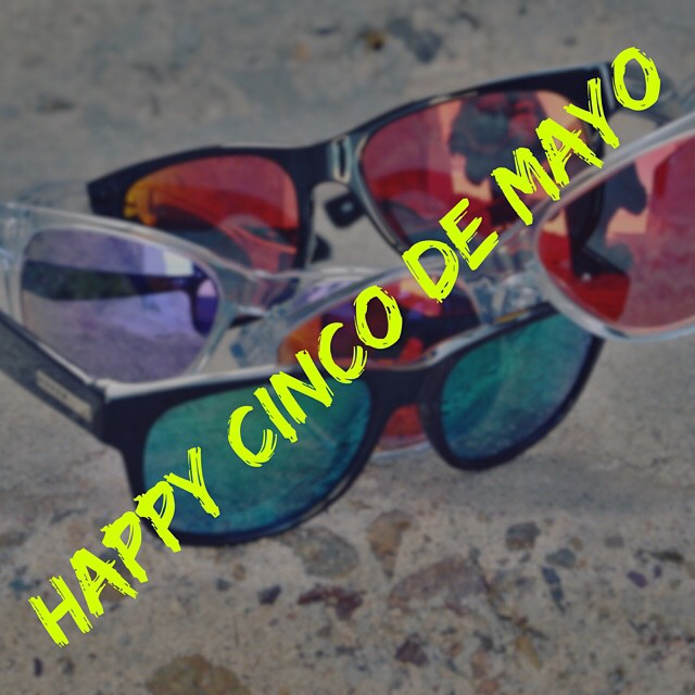 Happy Cinco de Mayo Muchachos #hovenvision #cincodemayo #tacotuesday #wayfarer #color #goinuponatuesday #revengeofthesith #socal #tacos #tequila #tacocat
