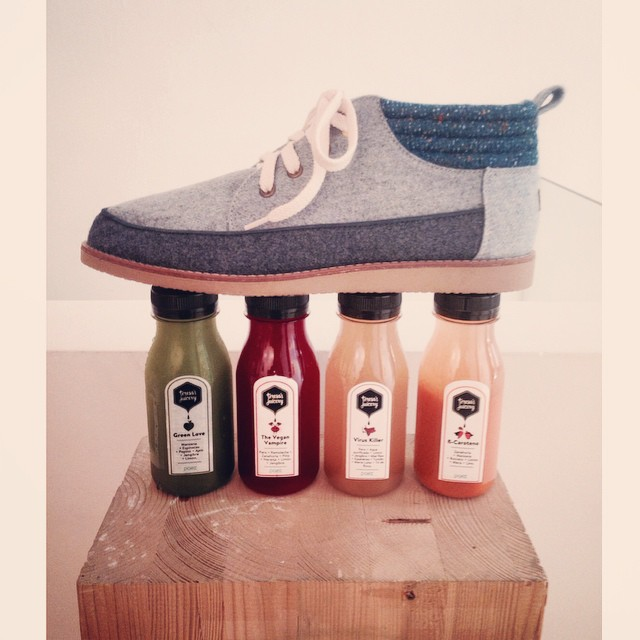 Making new friends! Teresa's Juicery deliciously wonderful  juice freshly pressed for our press day!