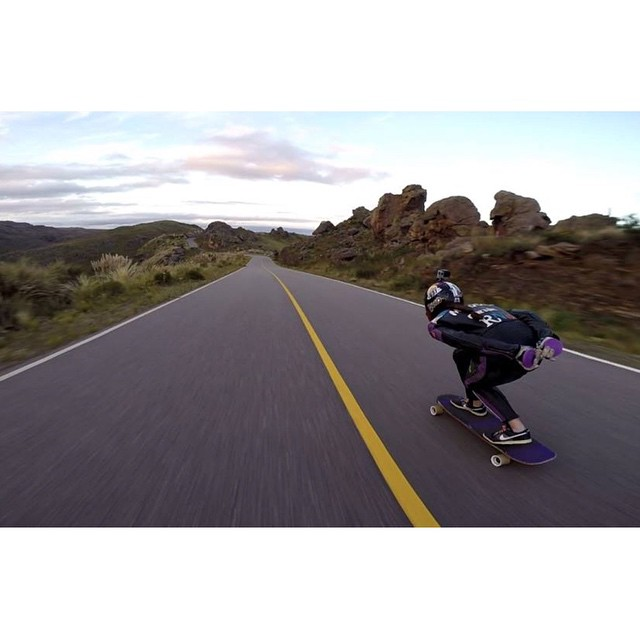 @magdub going fast in Argentina. She's so rad.  Photo credit?  #longboardgirlscrew #womensupportingwomen #girlswhoshred #magdablanc #argentina #lgcargentina